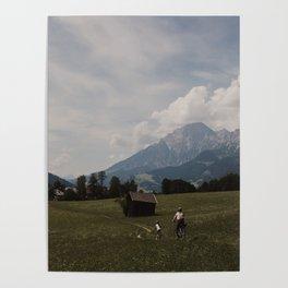 Biking through the Austrian Alps Poster