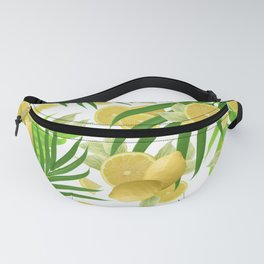Summer Lemon Twist Jungle #2 #tropical #decor #art #society6 Fanny Pack
