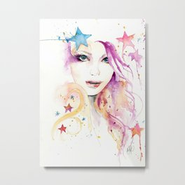 Galaxy Woman Metal Print