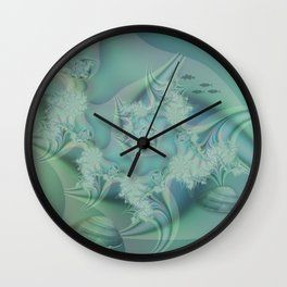 Fantasy ocean with shells and fish Wall Clock