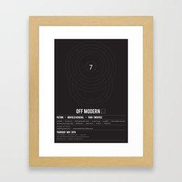 OM03: Off Modern Framed Art Print