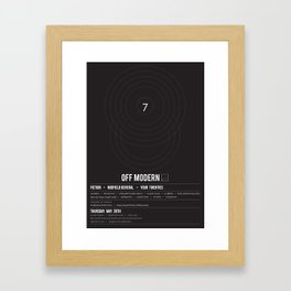 OM03: Off Modern Framed Art Print