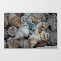 pixies Canvas Prints featuring Sea pixies by Tracey Burgun