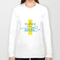 ukraine Long Sleeve T-shirts featuring I love Ukraine by Broncos