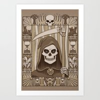 discworld Art Prints featuring COWER BRIEF MORTALS by Doodle Dojo