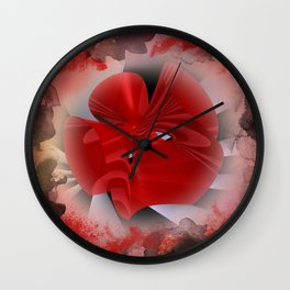 red polynomial flower -2- Wall Clock