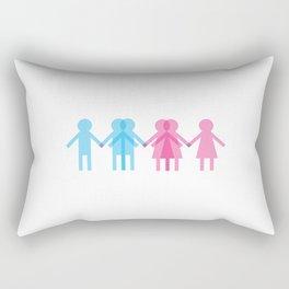 BOYS & BOYS & GIRLS & GIRLS Rectangular Pillow