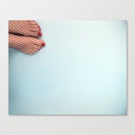 Retro feet Canvas Print