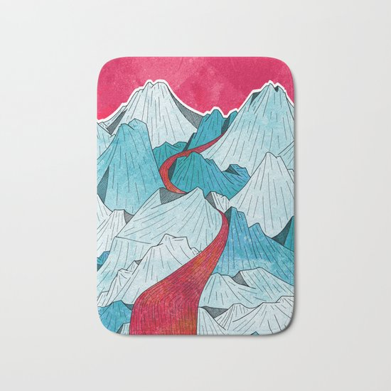 Red River In The Mountains Bath Mat