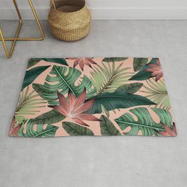 Tropical Monstera Swiss Cheese Plant Rug