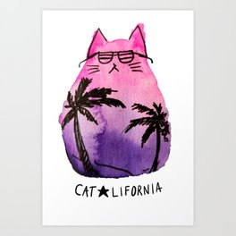Catlifornia Art Print