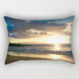 Poolenalena Beach Sunset Makena Maui Hawaii Rectangular Pillow