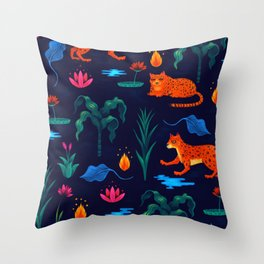 Folk Tales Throw Pillow