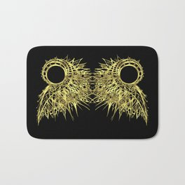 GOLDEN CURL - SHINING PAINTING ON BLACK BACKGROUND Bath Mat