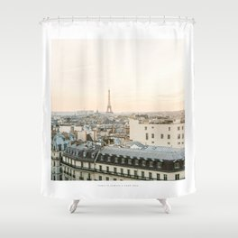 On the rooftops of Paris Shower Curtain