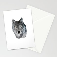 Wolf portrait Stationery Cards