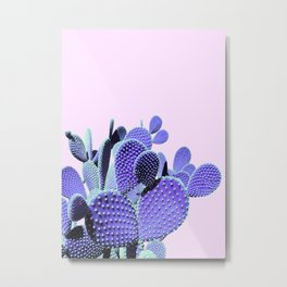 Prickly Cactus - Purple on Pink #cactuslove #tropicalart Metal Print