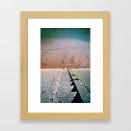 On the river wall. Framed Art Print