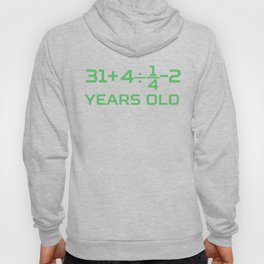 45 Years Old Math Equation Funny 45th Birthday Hoody