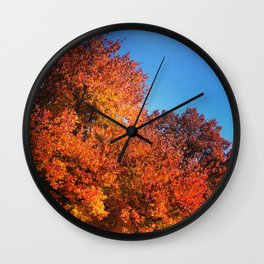 Fall Across the Street Wall Clock