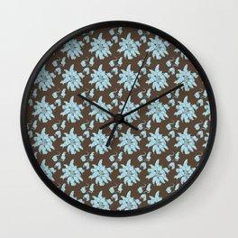 Ratking Flowers [Blue] Wall Clock