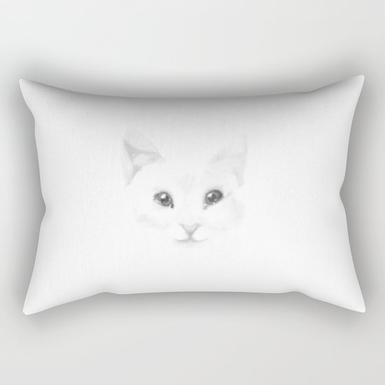 Winter cat Rectangular Pillow