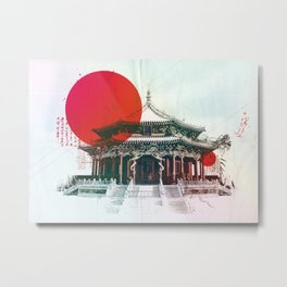 Chinese temple Metal Print