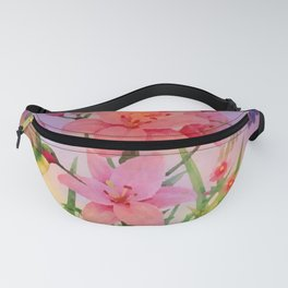 Painterly Hummingbirds And Flowers Fanny Pack