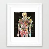 skeleton Framed Art Prints featuring Skeleton by Ben Giles