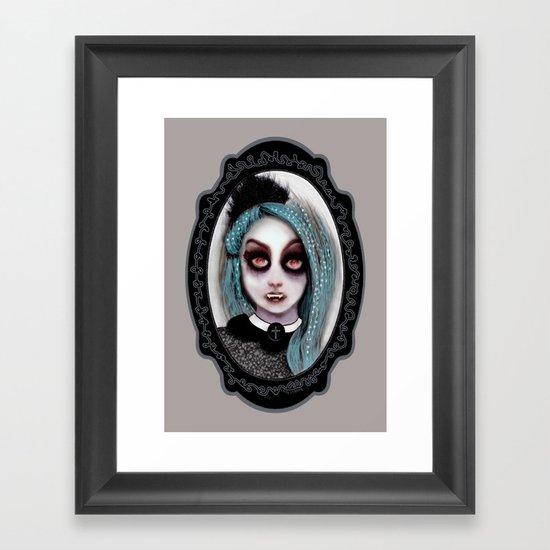 Harajuku Vampire Framed Art Print