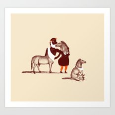 Horsies Art Print