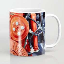 Red diesel engine for truck Coffee Mug