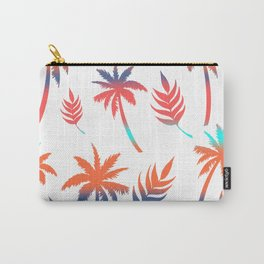 Palm Tree Summer Vibes and Leaf Print Carry-All Pouch