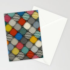 buttoned patches Stationery Cards