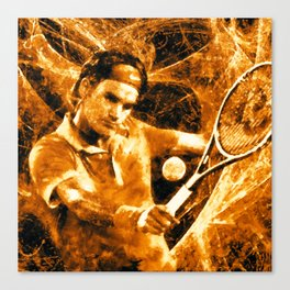 Roger Federer Clay Canvas Print