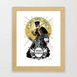 Deus Saber Framed Art Print