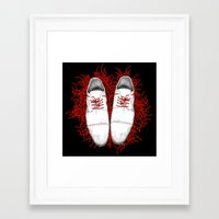 shoes Framed Art Prints featuring Shoes by Tamar Kasparian