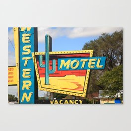 Route 66 - Western Motel 2010 Canvas Print