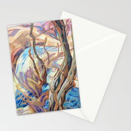 Winter Fence Row Stationery Cards