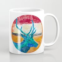 rothko Mugs featuring Deer Rothko by winterkl