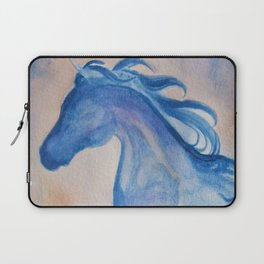 Azure Arabian Horse Profile Laptop Sleeve