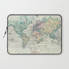 Vintage Map of The World (1801) Laptop Sleeve