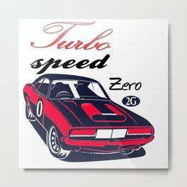 Turbo speed 2G Metal Print