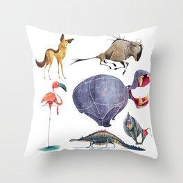 African animals 3 Throw Pillow