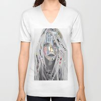 cara V-neck T-shirts featuring Cara by Katy Hirschfeld