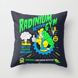 Radinium Gym - Fitness - Gym - Funny - Illustration - Nuclear Throw Pillow