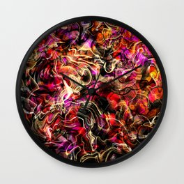 Hippie color blend abstract Wall Clock