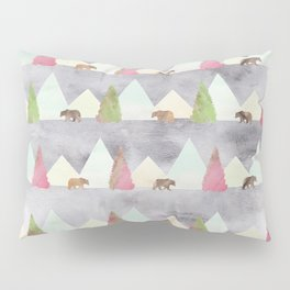 Bear in the Forest Rustic Cabin Theme Pillow Sham