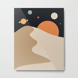 Desert Space Metal Print