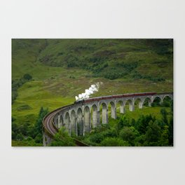 Jacobite Steam Train on the Glenfinann Viaduct Canvas Print